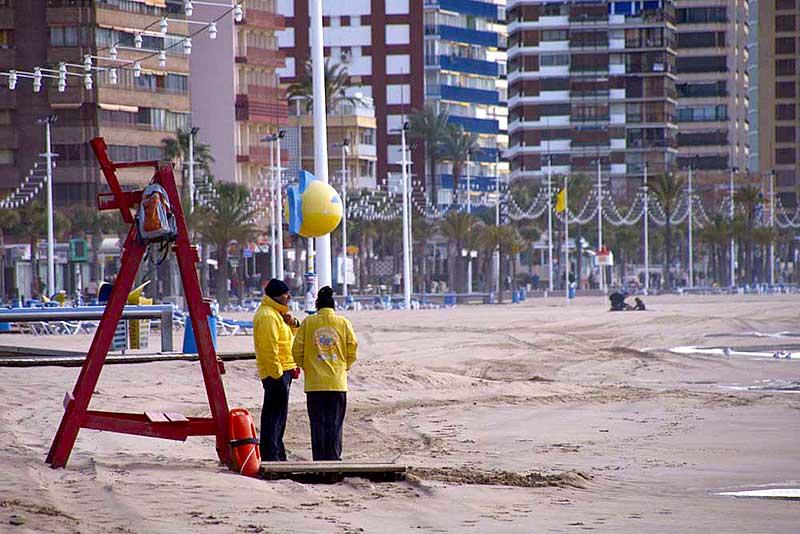 Am Strand von Benidorm