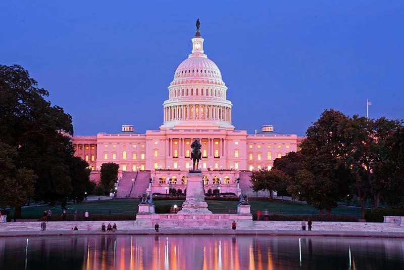 US Capitol auf dem Capitol Hill Parlamentssitz der Vereinigten Staaten