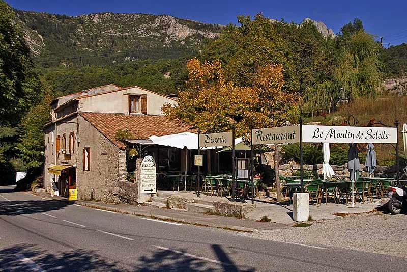Die Moulin de Soleil liegt an der Straße nach Trigance